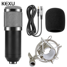 BM800 Professional Microphone Condenser Microphone for Video Recording Radio Studio Microphone for Computer with Shock Mount(China)