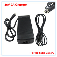 36V 2A lead acid battery charger RCA Port 36V electric bike Scooter charger wheelchair charger golf cart charger Free shipping