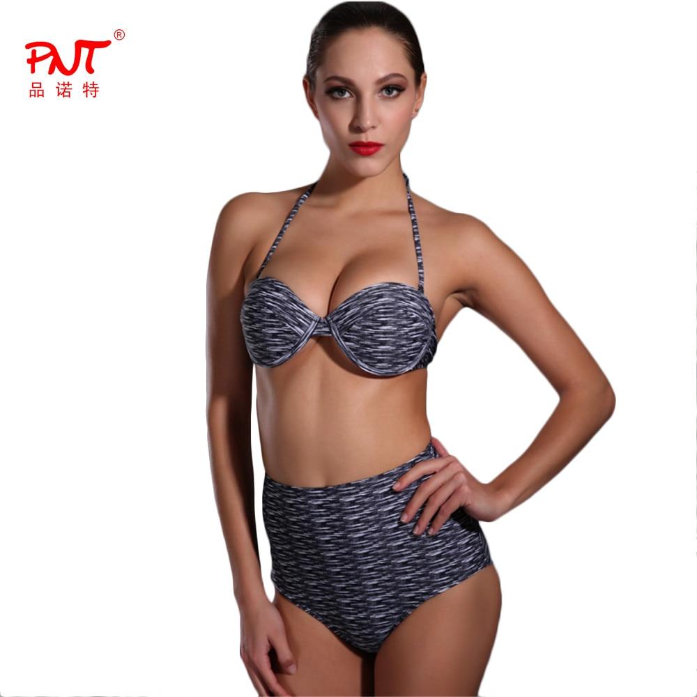 PNT191 Womens Swimwear High Waisted Two Piece Sexy Bikini 2017 Push Up Biquinis Womens Swimsuit New Designer Hot Selling Bikini<br><br>Aliexpress
