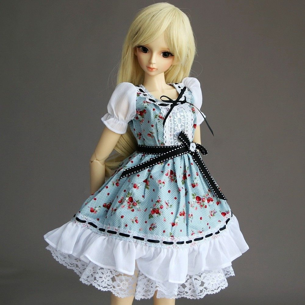 [wamami] 148# Blue Flower Floral Print Dress/Suit 1/3 SD DZ AOD DOD BJD Dollfie<br>