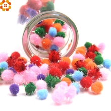 500PCS 10MM 2Styles DIY Soft Pom Poms Ball Pompoms Balls Handmade Craft Tools Home Garden&Wedding Decoration&Sewing Accessories(China)