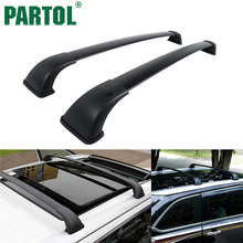 Partol Black Car Roof Rack Cross Bars Roof Luggage Carrier Cargo Boxes Bike Rack 75KG/165LBS For Toyota Highlander XLE 2014-2017
