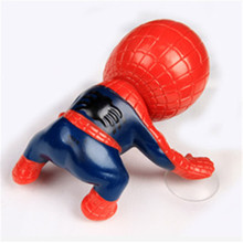 16CM action figure climbing spiderman window sucker for spider-man doll spiderman toys car home interior decoration spider man