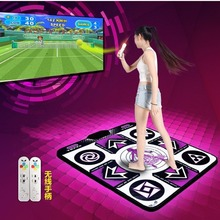 KL English menu 11 mm thickness single dance pad Non-Slip Pad yoga mat + 2 remote controller sense game for PC & TV