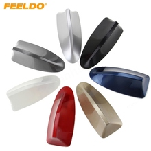 FEELDO Waterproof Universal Car Radio Antenna Shark Fin Roof Decorative Antenna With FM/AM Radio Function 7-Color #2743