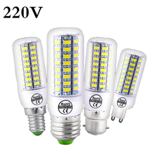 24 48 56 69 72LEDs E27 E14 B22 G9 LED Lamp LED Bulb SMD5730 220V Corn Bulb Chandelier Candle LED Light For Home Decoration