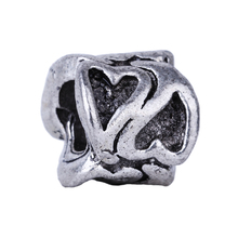2016 New Silver Women Jewelry Beads Double Love Heart Silver DIY Bead Charm European Bead Fit Pandora BIAGI Bracelet Bangle(China)