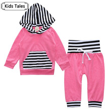 SY191 Newborn Baby Boys Clothing Set Tops striped Toddler Hooded Outerwear Warm Long Pants Outfits Set Clothes Bay Boy Girl suit(China)
