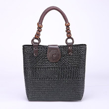 2017 Thai hand brocade fashion retro women handbag leisure travel beach bag environmental cool