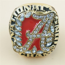 New 2016 Alabama Red Tide Team Champion Ring Alloy High Quality Replica Fan Ring Set Ring(China)