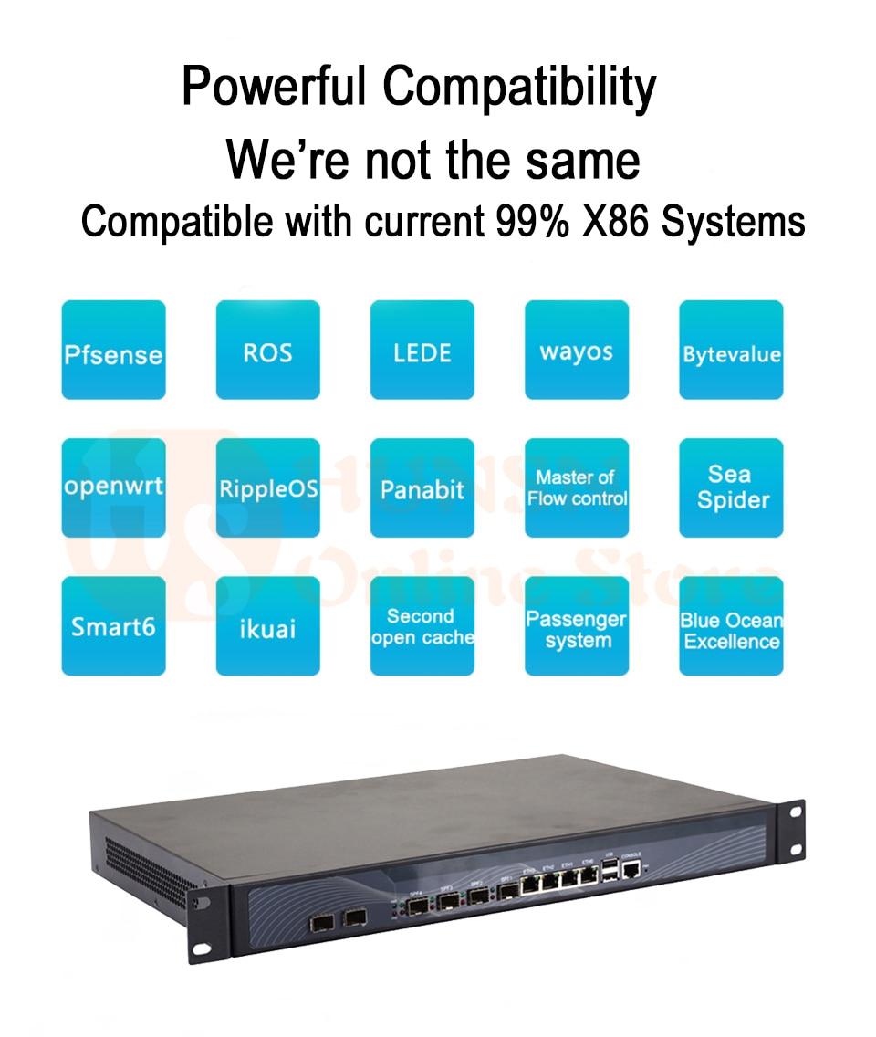 Firewall Mikrotik Pfsense Router PC I3 4160 I5 4430 I7 4770 G3250 HUNSN RS19 (06)