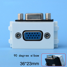90 Degree Elbow PC Slot 15pins VGA Socket 36x23mm For Blank Wall Face Panel(China)