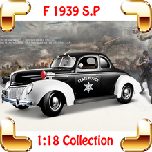 New Year Gift 1939 Deluxe 1/18 Metallic Model Car Toys Classic Vehicle Luxury Collection Car Fans Unique Present Best Choice(China)