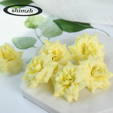 SHIMZH Artificial Fashion Silk Flowers For Wedding Party Decoration 20 Pcs/Lot Sweet Color Vivid Artificial DIY Rose Home Decor(China)