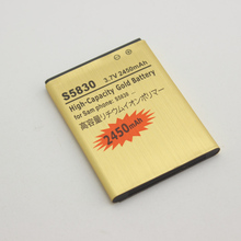 S5830 EB494358VU Battery For Samsung Galaxy ACE GT S5830 S5660 S5670 S7510 i619 i569 S5830i S5838 S7500 1350mAh
