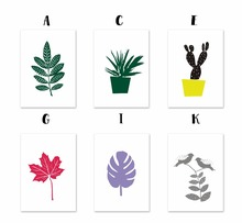 Leaves Aloe Cactus Canvas Paintings Plant Potted Stencil Nordic Wall Art Pictures Poster Print Pop For Living Room Home Decor(China)
