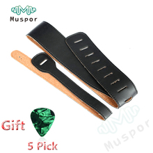 Heavy Duty Leatherette Electric Classical Acoustic Bass Guitar Strap For Fender Guitars Black + 5 Picks 0.71mm