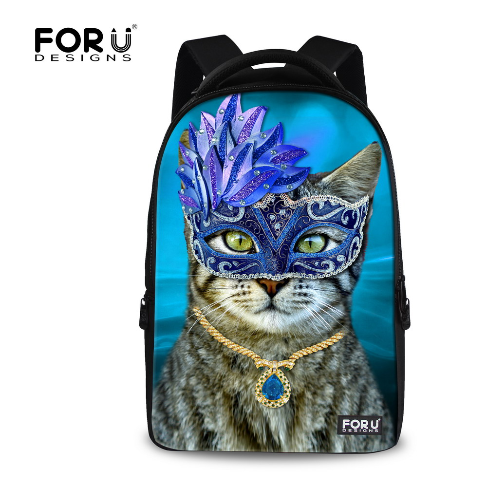 Large 3D Animal Cat Printing Womens Notebook Computer Bagpack 17 inch Teenager Girls School Laptop Backpacks Travel Backbag<br><br>Aliexpress