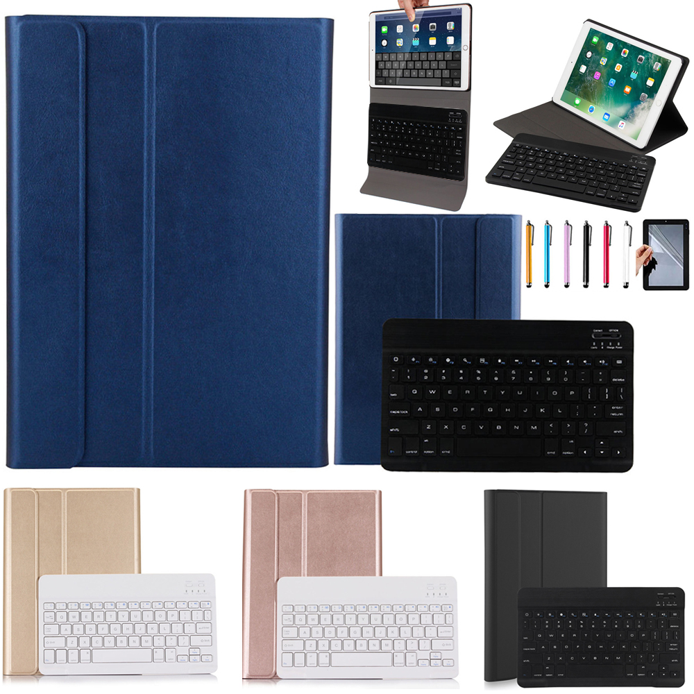Eagwell High Quality 2 in 1 Removable wireless Bluetooth Keyboard + PU Leather Case For New iPad  2017 / Air / Air 2 /Pro 9.7<br>