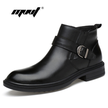 Buy Full Grain leather Men Boots Warm Fur Plus Size Men Winter Shoes Handmade Russian Style Snow Boots for $49.45 in AliExpress store