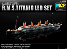 MOHSACADEMY 14220 1/700 Titanic with complete LED package muti-colored parts no painting necessary assembly scale model ship kit(China)