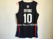 #10 Kyrie Irving 2016 Dream Team USA Basketball Jersey Embroidery Stitched Custom any Number and name