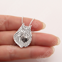 Bouvier des Flandres Necklace 3D Cut Out Puppy Dog Lover Pendant Memorial Necklaces & Pendants Christmas Gift 3081 Lead Free(China)