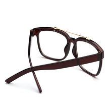 Korean Retro Light Glasses Men Women General Arrow Large flat Mirror Glasses Leopard Round Square Frame Eyeglasses Frames 0040