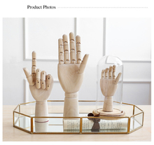 Creative Wooden Hand Model Adjustable Mannequin Decoration Home Store Shop Window Art Drawing Artist Left Right Kid Male Female(China)