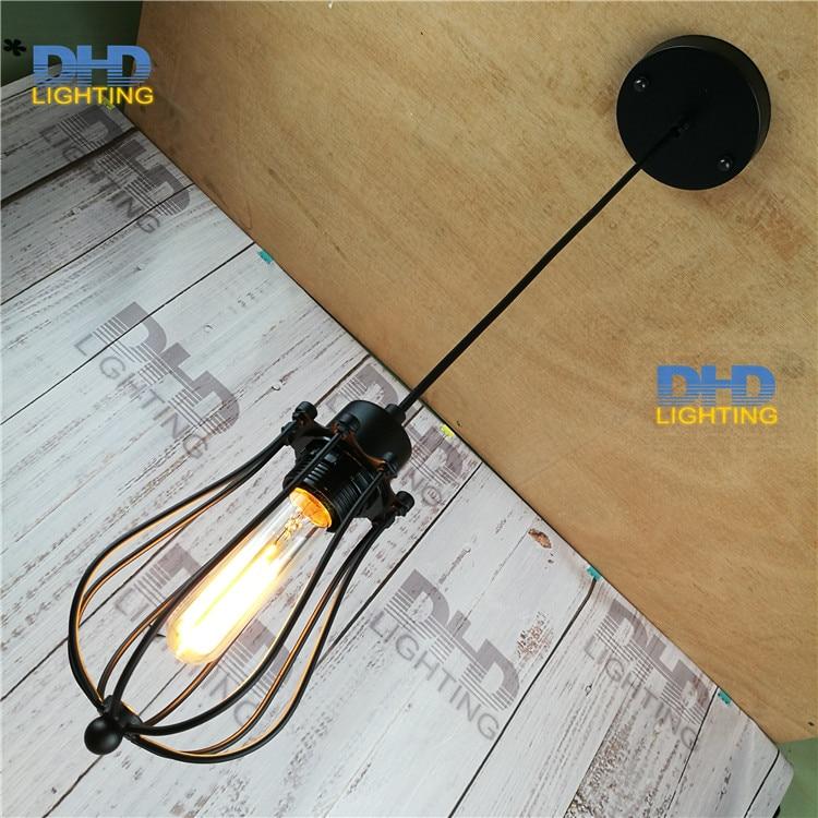 American loft vintage lamp personality balcony wrought iron pendant lights + 110cm wire edison pendant lamp<br><br>Aliexpress