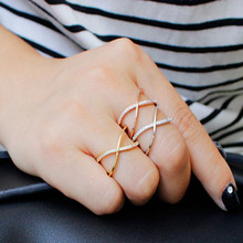 ZOSHI Boho Vintage Punk Silver Color Crystal Midi Finger Rings For Women /Men Cross Bohemian Ring Set Jewelry Anillos