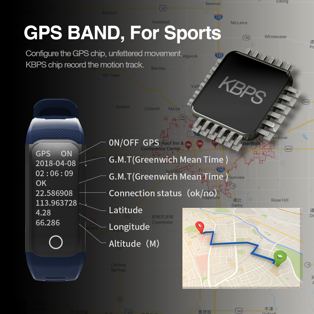 GPS Smart Band with Heart Rate Tracker 2