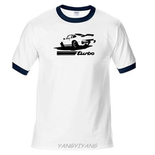 Newest Letter Print raglan Sleeve T Shirt Men 911 Turbo Old School Retro Car Cheap T Shirt man(China)
