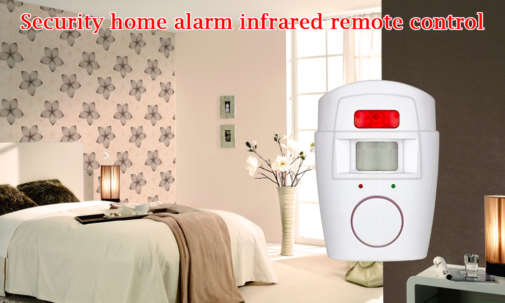 Home Security PIR MP Alert Infrared Sensor Anti-theft Motion Detector Alarm Monitor Wireless Alarm system+2 remote controller 8