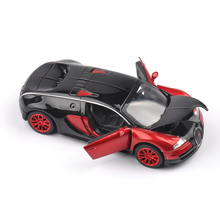 Collectible Model Cars Bugatti Veyron 1:32 Alloy Diecast Mini Model Cars With Light & Sound Toys For Boys Brinquedos Gifts