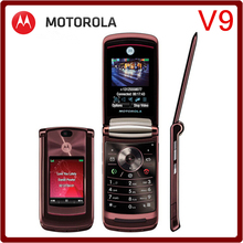 V9 Original Unlocked Motorola RAZR2 V9 2.2`` MP3 Player Refurbished Mobile Phone Free Shipping