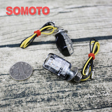 tracker scrambler vintage motorcycle custom MINI turn signal light  clear cover small type turn light for universal motorcycle