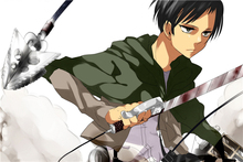 Free Ship Fashion Wallpaper Custom Attack On Titans Canvas Poster Levi Warrior (2) Wall Stickers Home Decoration #PN#160#(China)