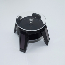 Jewelry Rotating Stand Solar Automatic Ring Bracelet Jewelry Display Turntable Rotary Plate(China)