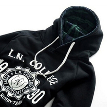 Spring Autumn Men Hoodies Letter Pattern Print Fashion Fleece 2017 Hot Thickening Wildly Men's Tops Sportwear Hooded KH907192
