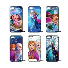 For iPod Touch iPhone 4 4S 5 5S 5C SE 6 6S 7 Plus Samung Galaxy A3 A5 J3 J5 J7 2016 2017 Anna Elsa Children's Princess Girl Case