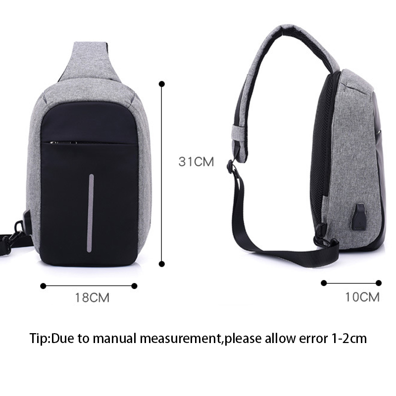 Men Anti Theft Backpack USB Rechargeable Crossbody Women Bags Boys Girls Single Shoulder Bag Backpacks Sac A Dos Homme BP0205 (5)
