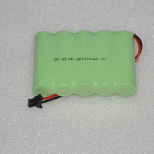 1-4PCS 6V AA rechargeable battery pack 1000mah 2A ni-mh nimh batteries NI MH cell for toys cordless phone A(China)