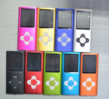 by dhl or ems 50pcs Plum Blossom 4gb 4th Gen MP4 Player 1.8'' Video Radio FM MP3 MP4