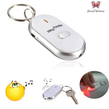 Fancy&Fantasy  Anti-Lost Finder Sensor Alarm Whistle Led Key Finder Locator Keychain with Whistle Beep Sound  Milticolor options