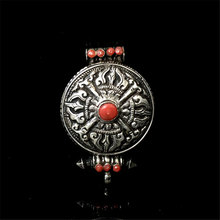 T9116 Tibetan Cross Dorje Prayer box Nepal 925 Sterling Silver Vintage Pendants Free shipping(China)
