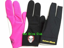 Free shipping 3pcs/lot high Elasticity 3 finger Billiards gloves/Snooker table Gloves/Pool glove Billiards Accessories