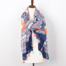 Staiwalks Multicolor Geometric Scarf With Tassels Chevron Zig Zag Pattern Good Quality Fashion For Women Free Shipping(China)