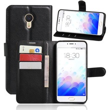 For Meizu Note 3 M3 case cover ,fashion luxury flip leather wallet stand phone case cover cell phones(China)