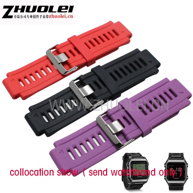 rubber strap 33*22mm lug mm Waterproof Soft Watchbands Rubber Replacement Sport Garmim epix Wrist band red|black|dark blue<br><br>Aliexpress